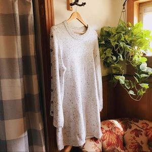 MADEWELL Donegal Button Sleeve Sweater Dress